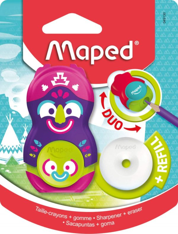 MAPPED DUO ERASER, Sharpeners & Erasers