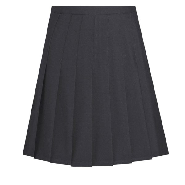 STITCHED DOWN KNIFE PLEAT SKIRT - Black, Skirts & Pinafores, Bower Park
