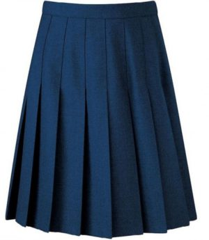 STITCHED DOWN KNIFE PLEAT SKIRT - NAVY, Sacred Heart, Skirts & Pinafores