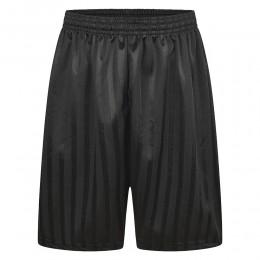 SHADOW STRIPE SHORTS - BLACK, PE Shorts, Brittons, Frances Bardsley