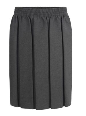 BOX PLEATED SKIRT - GREY, Gidea Park, Hacton Primary, Hylands, James Oglethorpe, Langtons Infant, Langtons Junior, Mead Primary, Parklands Primary, Ardleigh Green, Scargill Junior, Scotts, Squirrels Heath, St Alban's, St Mary's Hornchurch, St Ursula's Junior, Suttons, Towers, Warley Primary, Skirts & Pinafores, Branfil, Concordia